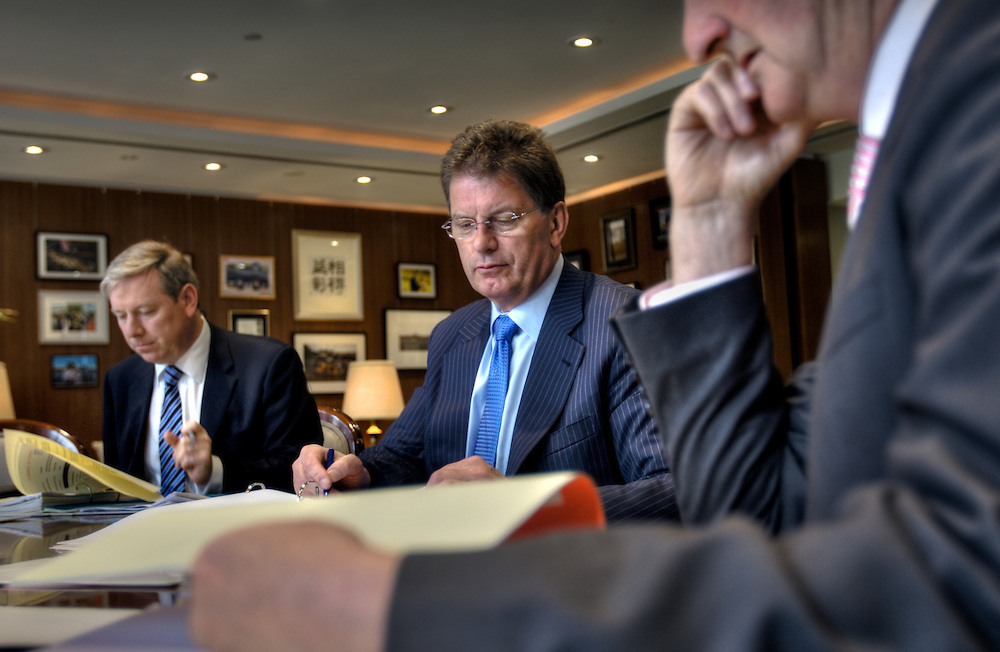 Victorian Premier Ted Baillieu after one year in office. Cabinet meeting in the premiers office. Pic By Craig Sillitoe CSZ/The Sunday Age.21/11/2011 melbourne photographers, commercial photographers, industrial photographers, corporate photographer, architectural photographers, This photograph can be used for non commercial uses with attribution. Credit: Craig Sillitoe Photography / http://www.csillitoe.com<br /> <br /> It is protected under the Creative Commons Attribution-NonCommercial-ShareAlike 4.0 International License. To view a copy of this license, visit http://creativecommons.org/licenses/by-nc-sa/4.0/.