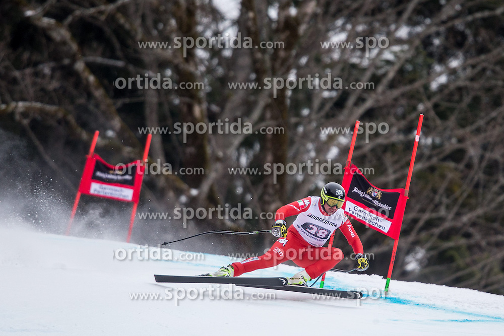 27.02.2015, Kandahar, Garmisch Partenkirchen, GER, FIS Weltcup Ski Alpin, Abfahrt, Herren, 2. Training, im Bild Silvano Varettoni (ITA) // Silvano Varettoni of Italy in action during the 2nd trainings run for the men's Downhill of the FIS Ski Alpine World Cup at the Kandahar course, Garmisch Partenkirchen, Germany on 2015/27/02. EXPA Pictures © 2015, PhotoCredit: EXPA/ Johann Groder