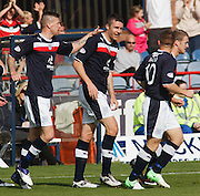 Dundee's Colin Nish is congratulated by Iain Davidson after opening the scoring - Dundee v Motherwell, Clydesdale Bank Scottish Premier League at Dens Park.. - © David Young - 5 Foundry Place - Monifieth - DD5 4BB - Telephone 07765 252616 - email: davidyoungphoto@gmail.com - web: www.davidyoungphoto.co.uk