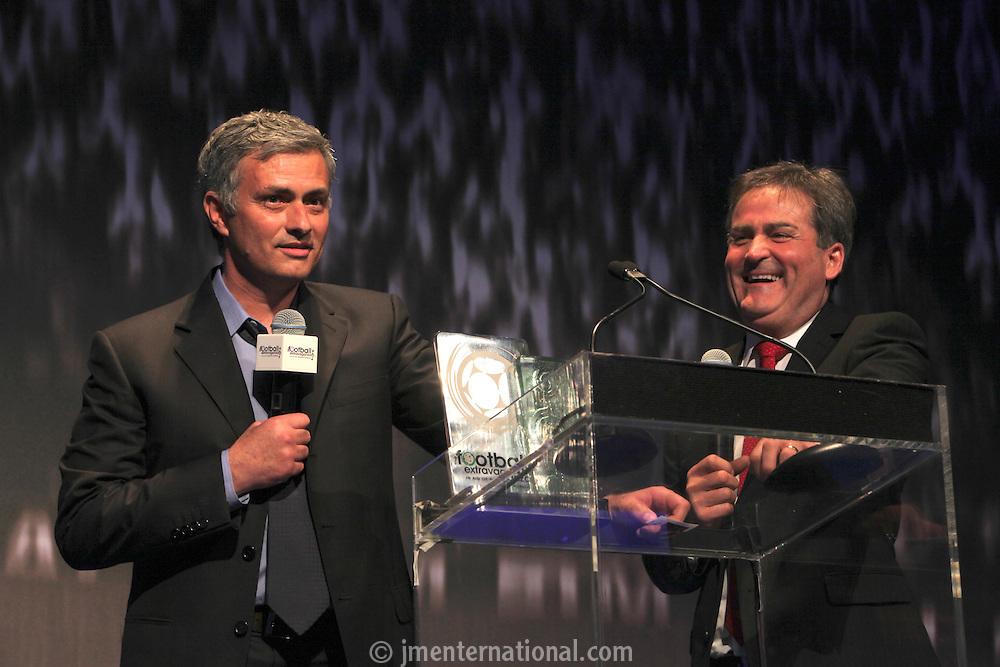The Football Extravaganza, Jose Mourinho receives the Legend of Football Award in aid of Nordoff Robbins..Monday, March 22, 2011. (Photo/John Marshall JME)