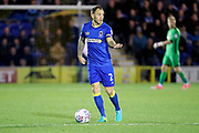 AFC Wimbledon defender Barry Fuller (2) dribbling during the EFL Sky Bet League 1 match between AFC Wimbledon and Rotherham United at the Cherry Red Records Stadium, Kingston, England on 17 October 2017. Photo by Matthew Redman.