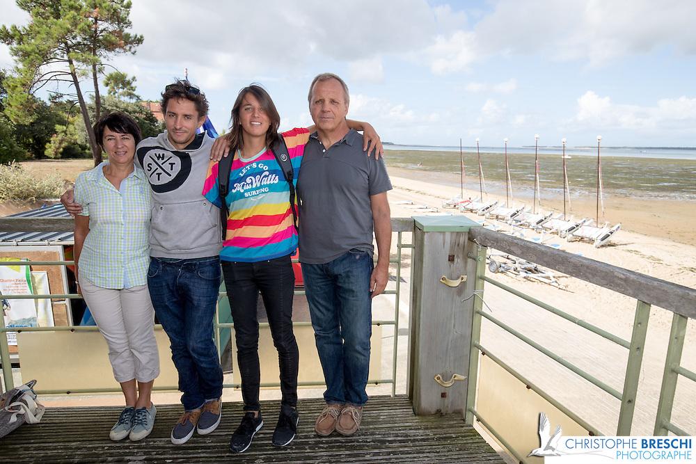 Charline Picon, son frere et ses parents