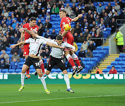 Cardiff City's Sean Morrison with an early chance on goal. - Photo mandatory by-line: Alex James/JMP - Mobile: 07966 386802 - 06/12/2014 - SPORT - Football - Cardiff - Cardiff City Stadium  - Cardiff City v Rotherham United  - Football