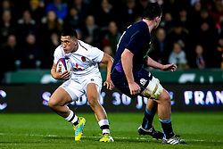 Manu Vunipola of England U20 goes past Ewan Johnson of Scotland U20 - Mandatory by-line: Robbie Stephenson/JMP - 15/03/2019 - RUGBY - Franklin's Gardens - Northampton, England - England U20 v Scotland U20 - Six Nations U20