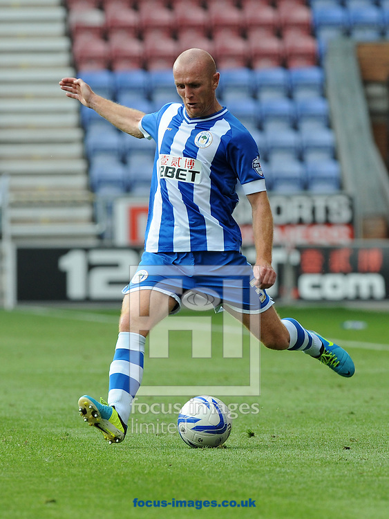 Picture by Alan Wright/Focus Images Ltd 07733 196489<br /> 25/08/2013<br /> Stephen Crainey of Wigan Athletic during the match against Middlesbrough in the Sky Bet Championship at the DW Stadium, Wigan.