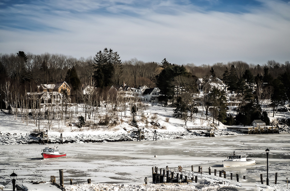 Ice Bound Harbor, Rockport Maine