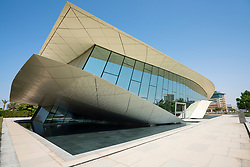 Modern Etihad Museum , a history museum of the UAE, in Dubai, United Arab Emirates.