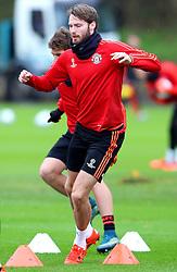 Nick Powell of Manchester United - Mandatory byline: Matt McNulty/JMP - 07966386802 - 24/11/2015 - FOOTBALL - Aon Training Complex -Manchester,England - UEFA Champions League