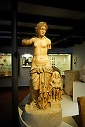 Risque statue in Archaeological Museum, Nin, Croatia
