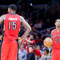 27 December 2014: Toronto Raptors forward Amir Johnson (15) and Toronto Raptors guard Louis Williams (23) are seen during the Toronto Raptors 110-98 victory over the Los Angeles Clippers, at the Staples Center, Los Angeles, California, USA.