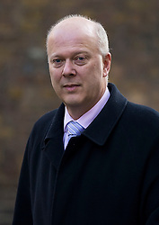 © Licensed to London News Pictures. 23/02/2016. London, UK. Leader of the House of Commons CHRIS GRAYLING  arrives at number 10 Downing Street in Westminster, London for cabinet meeting. Photo credit: Ben Cawthra/LNP