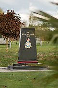 The Royal Air Force Police Memorial at the National Memorial Arboretum, Croxall Road, Alrewas, Burton-On-Trent,  Staffordshire, on 29 October 2018. Picture by Mick Haynes.