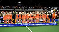 AMSTELVEEN - Oranje na de damesfinale Nederland-Belgie bij de Rabo EuroHockey Championships 2017. COPYRIGHT KOEN SUYK