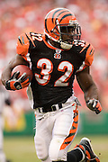 KANSAS CITY, MO - SEPTEMBER 10:  Running back Rudi Johnson of the Cincinnati Bengals runs with the ball against the Kansas City Chiefs on September 10, 2006 at Arrowhead Stadium in Kansas City, Missouri..The Bengals won 23 to 10.  (Photo by Wesley Hitt/Getty Images)***Local Caption*** Rudi Johnson