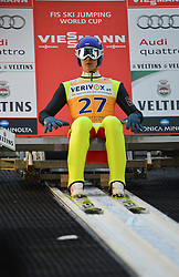 21.11.2014, Vogtland Arena, Klingenthal, GER, FIS Weltcup Ski Sprung, Klingenthal, Herren, HS 140, Qualifikation, im Bild Mikhail Maksimochkin (RUS) // during the mens HS 140 qualification of FIS Ski jumping World Cup at the Vogtland Arena in Klingenthal, Germany on 2014/11/21. EXPA Pictures © 2014, PhotoCredit: EXPA/ Eibner-Pressefoto/ Harzer<br /> <br /> *****ATTENTION - OUT of GER*****
