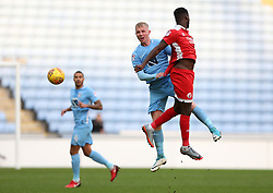 Coventry City's Jack Grimmer (left) and Crawley Town's Enzio Boldewijn in action