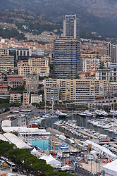 General view of various luxurious buildings in Monaco, on June 25, 2014. Police investigating the killing of Monaco heiress Helene Pastor last month have detained 23 people in France, including her daughter and son-in-law. Ms Pastor, from one of Monaco's richest families, was ambushed by a man armed with a shotgun as she left hospital in the French city of Nice in May. Her chauffeur also died of his wounds. Sylvia Pastor and her husband, Poland's honorary consul to Monaco Wojciech Janowski, were among those detained in Nice, Marseille and Rennes. Photo by Mike Bird/ABACAPRESS.COM  | 454291_023 Monaco Monaco