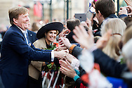 HAMBURG - King Willem-Alexander and Queen Maxima on the cityhall in Hamburg King Willem-Alexander and Queen Maxima in Sleeswijk- Holstein and Hamburg on Thursday 19 and Friday, April 20th . COPYRIGHT ROBIN UTRECHT