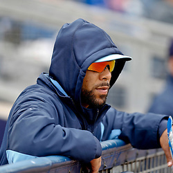 Mar 2, 2013; Port Charlotte, FL, USA; Tampa Bay Rays starting pitcher David Price (14) watches from the dugout during the top of the fourth inning of a spring training game against the Baltimore Orioles at Charlotte Sports Park. Mandatory Credit: Derick E. Hingle-USA TODAY Sports