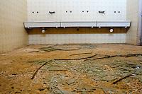 Il complesso produttivo delle saline è situato nel comune italiano di Margherita di Savoia (nome dato dagli abitanti in onore alla regina d'Italia che molto si adoperò nei confronti dei salinieri) nella provincia di Barletta-Andria-Trani in Puglia. Sono le più grandi d'Europa e le seconde nel mondo, in grado di produrre circa la metà del sale marino nazionale (500.000 di tonnellate annue).All'interno dei suoi bacini si sono insediate popolazioni di uccelli migratori e non, divenuti stanziali quali il fenicottero rosa, airone cenerino, garzetta, avocetta, cavaliere d'Italia, chiurlo, chiurlotello, fischione, volpoca..Bagno di un capannone in disuso. Sul pavimento sono presenti numerosi frammenti di vetro.