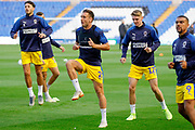 AFC Wimbledon defender Luke O'Neill (2) warming up  during the EFL Sky Bet League 1 match between Coventry City and AFC Wimbledon at the Trillion Trophy Stadium, Birmingham, England on 17 September 2019.
