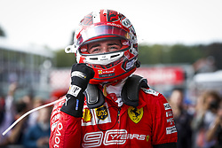 September 1, 2019, Spa-Francorchamps, Belgium: Scuderi Ferrari driver CHARLES LECLERC of Monaco celebrates winning his first Formula One race, the Grand Prix of Belgium. (Credit Image: © Hoch Zwei via ZUMA Wire)