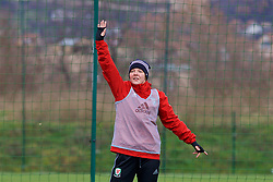 ZENICA, BOSNIA AND HERZEGOVINA - Monday, November 27, 2017: Wales' Loren Dykes during a training session ahead of the FIFA Women's World Cup 2019 Qualifying Round Group 1 match against Bosnia and Herzegovina at the FF BH Football Training Centre. (Pic by David Rawcliffe/Propaganda)