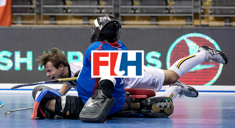 BERLIN - Indoor Hockey World Cup<br /> Men: Switzerland - Belgium<br /> foto: PLENNEVAUX Maxime.<br /> WORLDSPORTPICS COPYRIGHT FRANK UIJLENBROEK