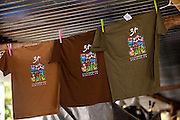 Tee shirts at the Maricao Coffee Festival in Puerto Rico.
