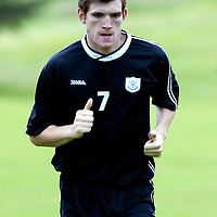 St Johnstone Training..29.06.04<br />Sean Webb working out<br /><br />Picture by Graeme Hart.<br />Copyright Perthshire Picture Agency<br />Tel: 01738 623350  Mobile: 07990 594431