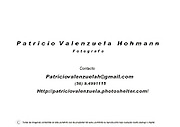 Patricio Valenzuela Hohmann.<br /> Commercial Portfolio<br /> Independent photographer based in Santiago, Chile.<br /> Specializing in news, reportage, documentary and corporate photography, available for assingments and projects.