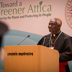 Cardinal Turkson read a message from Pope Francis at the opening of the Greener Attica forum in Greece.