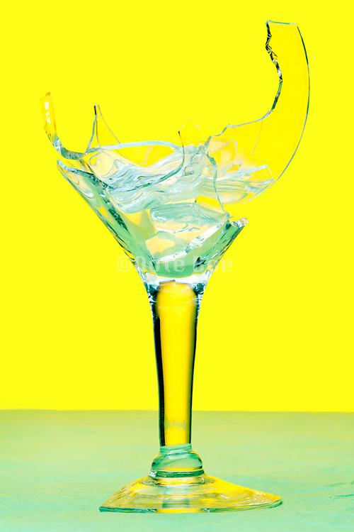 broken wine drinking glass
