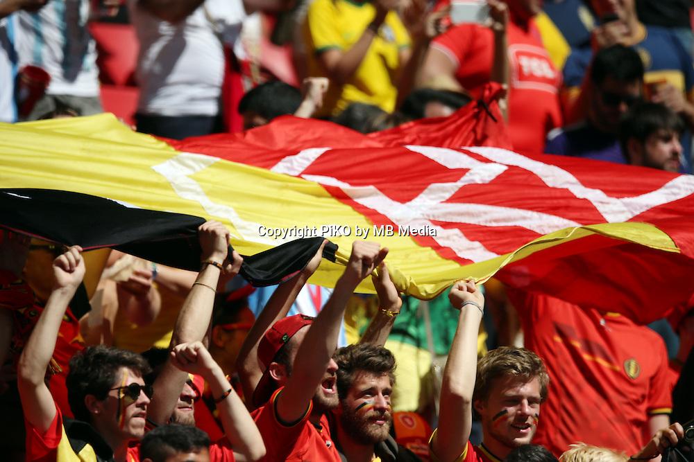 Fifa Soccer World Cup - Brazil 2014 - <br /> ARGENTINA (ARG) Vs. BELGIUM (BEL) - Quarter-finals - Estadio Nacional Brasilia -- Brazil (BRA) - 05 July 2014 <br /> Here Belgian supporters<br /> &copy; PikoPress