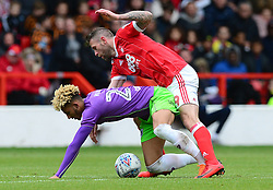 Daryl Murphy of Nottingham Forest fouls Daryl Murphy of Nottingham Forest - Mandatory by-line: Alex James/JMP - 28/04/2018 - FOOTBALL - The City Ground - Nottingham, England - Nottingham Forest v Bristol City - Sky Bet Championship
