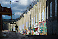 Wall in the city of Bethlehem, Israel