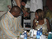 **EXCLUSIVE**.Magic Johnson & Star Jones.The Cain on The Cove Hotel Opening.Paradise Island, Bahamas.Friday, May 11, 2007 .Photo By Celebrityvibe.To license this image please call (212) 410 5354; or.Email: celebrityvibe@gmail.com ;