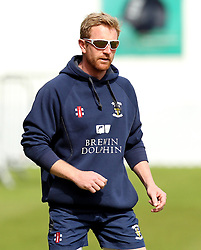 Durham's Paul Collingwood warming up - Photo mandatory by-line: Robbie Stephenson/JMP - Mobile: 07966 386802 - 04/05/2015 - SPORT - Football - London - Lords  - Middlesex CCC v Durham CCC - County Championship Division One