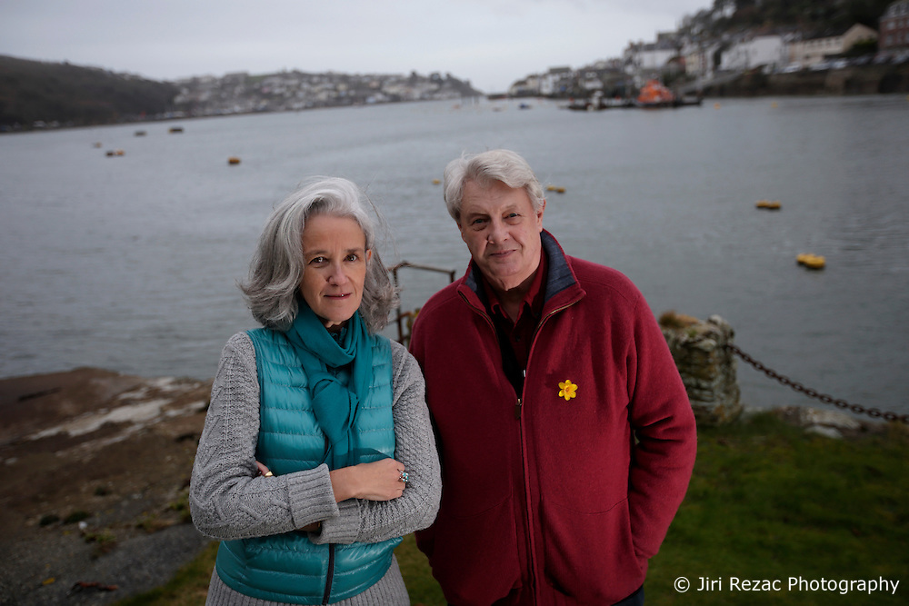 UK ENGLAND FOWEY 19FEB15 - Kits Browing, son of Daphne du Maurier and Tatiana De Rosnay (L) at his house Ferryside in Fowey, Cornwall, England. <br /> <br /> Fowey, a small fishing and harbour village was the living place of famous English writer Daphne Du Maurier and many of her novels are based here.<br /> <br /> jre/Photo by Jiri Rezac<br /> <br /> &copy; Jiri Rezac 2015