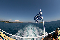 View from IIgoumenitsa-Corfu Ferry, Ionian Sea, Greece