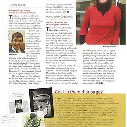 Photos of Santa Clara University alumni Michelle Dezember taken for the Spring 2009 editions of Santa Clara Magazine.