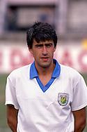 12.8.1992, Daugava Stadium, Riga, Latvia.<br /> FIFA World Cup Qualifying match, Latvia v Lithuania.<br /> Jurijs Popkovs - Latvia