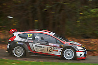 #12 Roger Moran / Joy Hoyle Ford Fiesta S2500 Herefordshireduring Neil Howard Memorial Stage Rally, and opening round of the 2015 Motorsport News Rally Championship.  at Oulton Park, Little Budworth, Cheshire, United Kingdom. November 07 2015. World Copyright Peter Taylor. Copy of publication required for printed pictures.  Every used picture is fee-liable. http://archive.petertaylor-photographic.co.uk