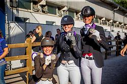 Belgische medaille winnars, Minneci Barbara, Claeys Manon, George Michel<br /> European Championship Para Dressage<br /> Rotterdam 2019<br /> © Hippo Foto - Dirk Caremans