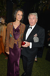 The MARCHIONESS OF WORCESTER and DON McCULLIN at The Animal Ball presented by Elephant Family held at Victoria House, Bloomsbury Square, London on 22nd November 2016.
