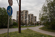 Apartment blocks in Yambol, Bulgaria near Dinko Valev's junkyard.<br /> <br /> Matt Lutton / Boreal Collective for VICE