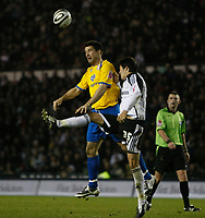 Photo: Steve Bond/Richard Lane Photography. Derby County v Crystal Palace. Coca Cola Championship. 06/12/2008. Alan Lee (L) and James Tomkins (R) challange in the penalty area