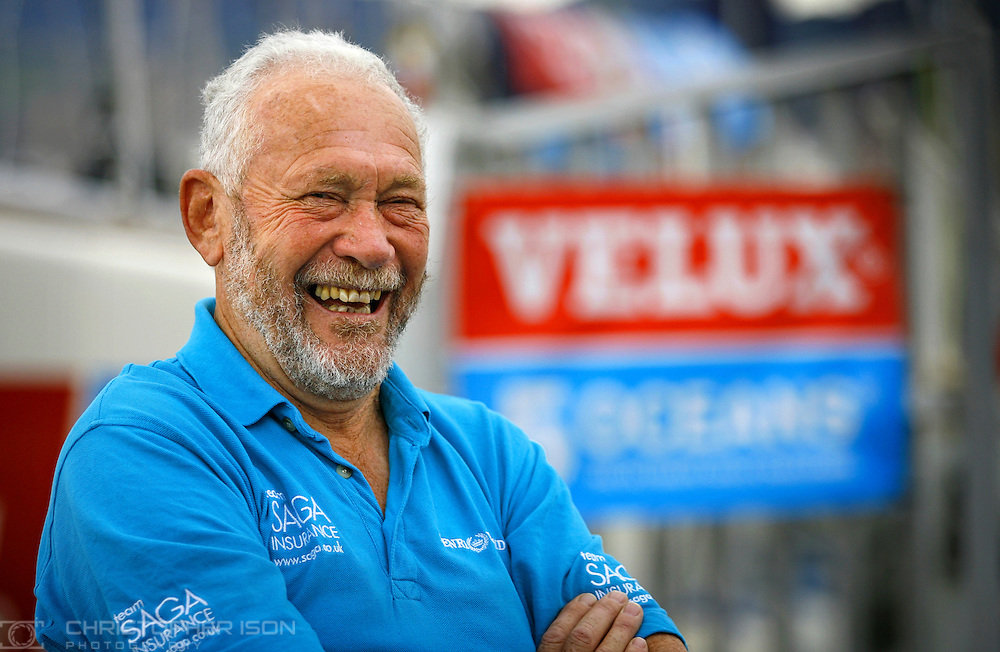 Veteran yachtsman Sir Robin Knox-Johnston in Bilbao, Spain ahead of his attempt to sail solo around the world again aged 67.