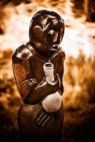 Zimsculpt at Van Dusen Botanical Garden: Traditional Medicine Healer - springstone sculpture by Regis Musha (original sculpture available at www.zimsculpt.com)