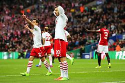 Manolo Gabbiadini of Southampton reacts  - Mandatory by-line: Matt McNulty/JMP - 26/02/2017 - FOOTBALL - Wembley Stadium - London, England - Manchester United v Southampton - EFL Cup Final